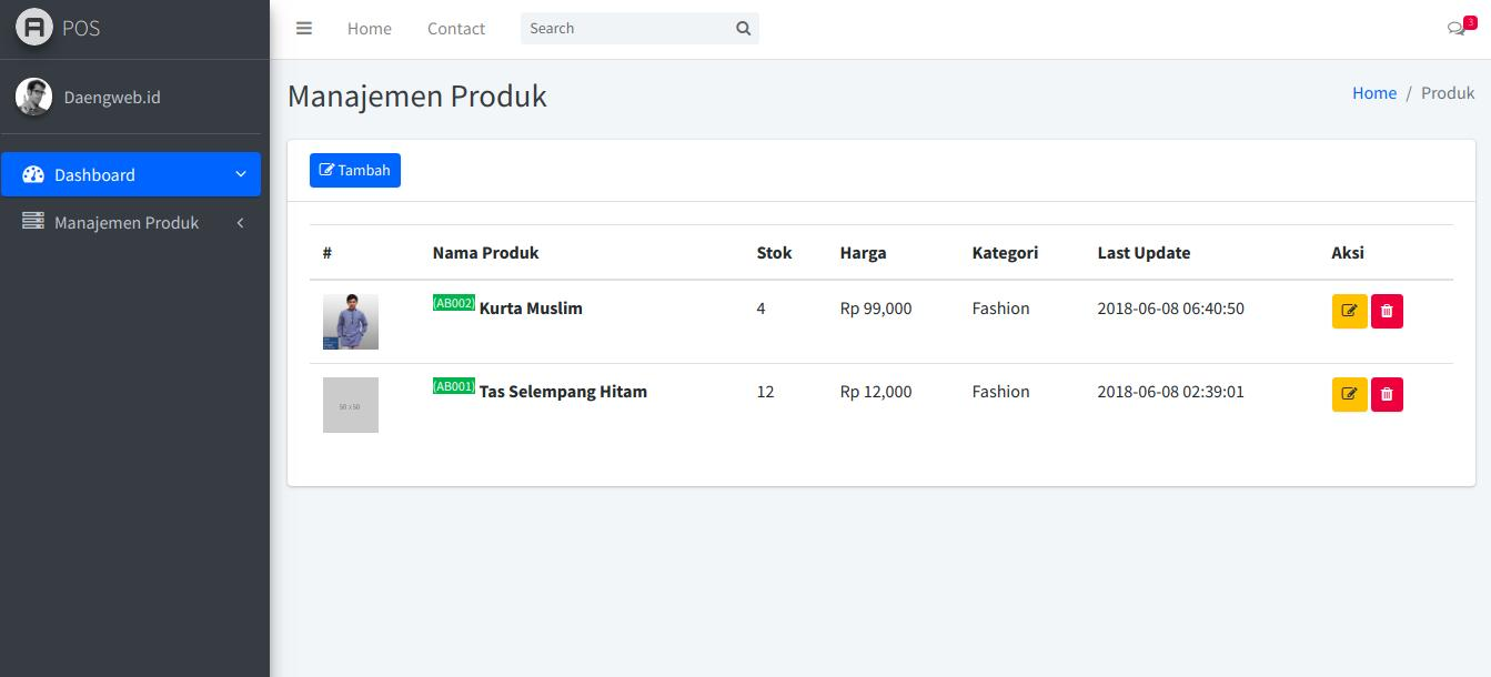 pos laravel - product view