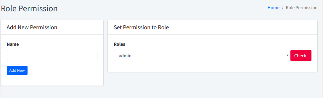 role & permission laravel - pos