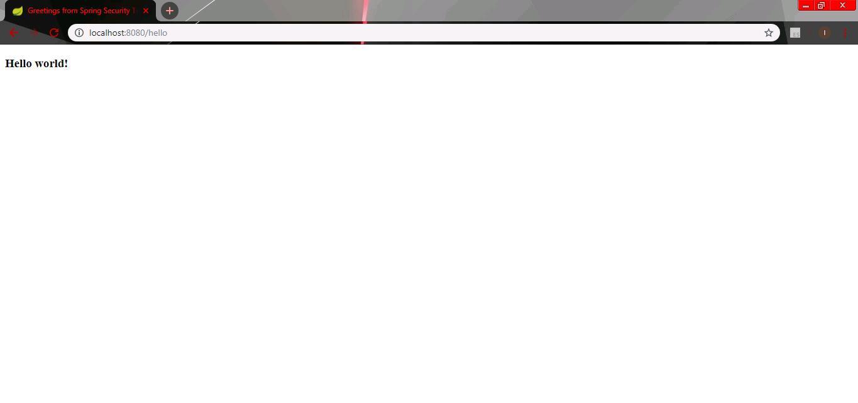 Default screen hello tanpa plugin security